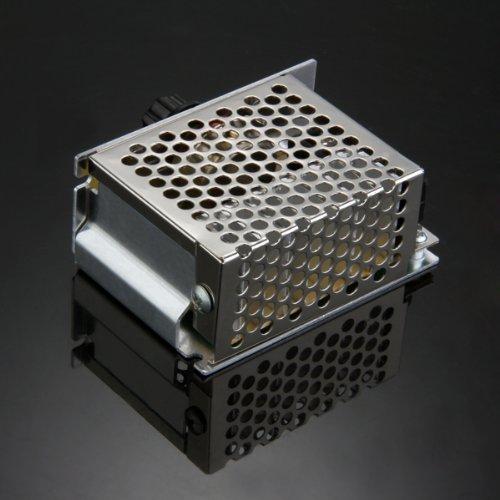 SZS Wholesale Voltage regulator Voltage Speed Controller SCR Dimmer + Shell AC 220V 4000W<br><br>Aliexpress