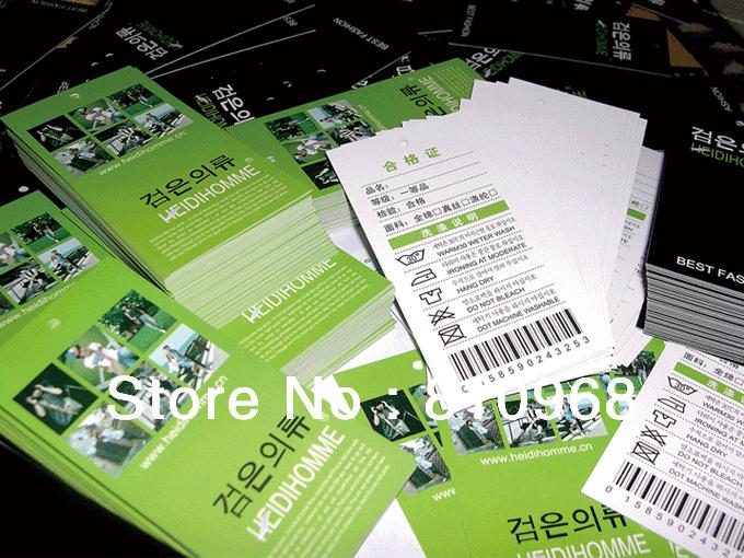 Printing Hang Tags, Tag Cars, Business Cards, Name Cards (MOQ: 200pcs)(China (Mainland))