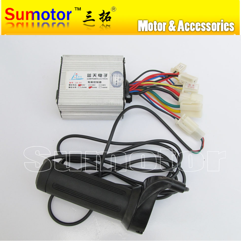 24v 350w brush speed controller with handle for motor for Speed control for electric motor