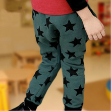 2015 New Autumn Children pants Kids casual harem printing stars pants boys and girls cotton trousers wholesale(China (Mainland))