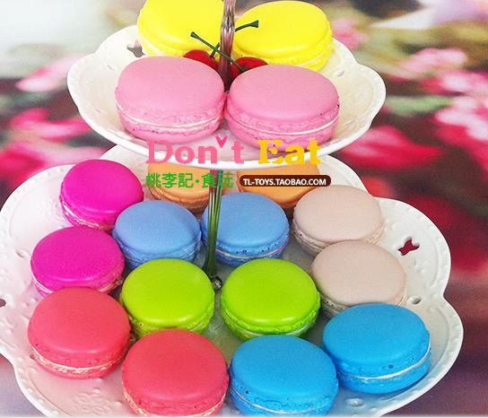 good quality! 5cm Macaron squishy soft pu colorful round cake food Cell Phone Straps model fashion party gift mix color order - Rare store