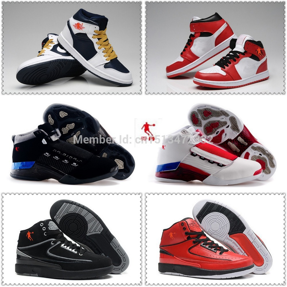 Free shipping new arrived top sale authentic retro jordan 1 2 17 men basketball shoes outlet online best service US size 8-13(China (Mainland))