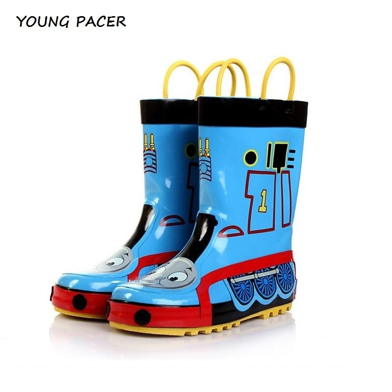 2016 Brand New Kids Thomas Rubber Rain Boots for Boys Brand Children Thomas Anti-skid Wellies Cartoon Boys Rain boots, PS006(China (Mainland))