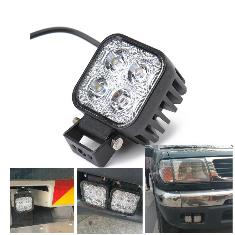 "3"" 4 LED Square Universal Car truck styling driving daylight DRL Fog lamp Mini Led work light Reverse lamp for Pickup truck F150(China (Mainland))"
