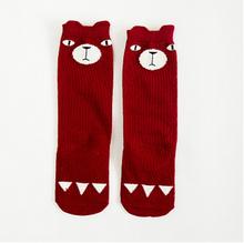 1pair Baby Kids Toddlers Girls Cotton Socks Cat Owl Animal cartoon design School High Knee Sock Girl Princess 0-6Y brand new(China (Mainland))