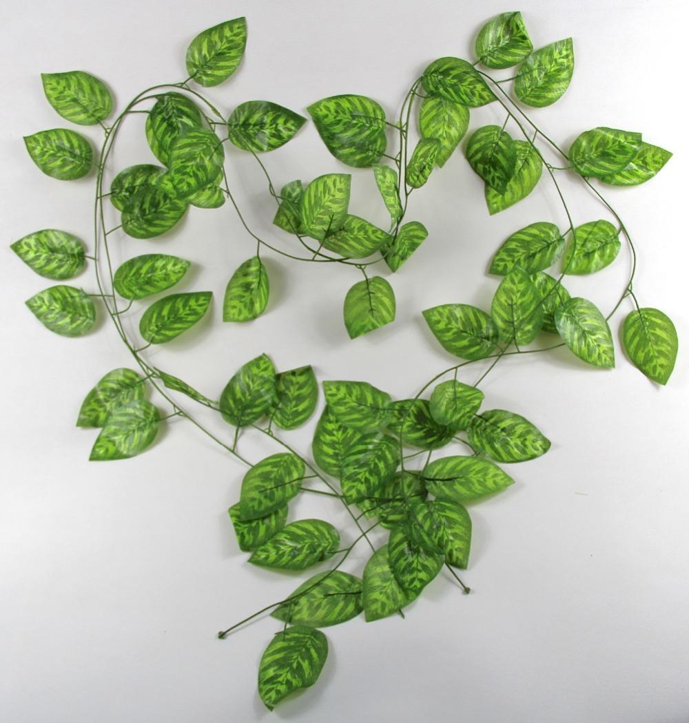 Diy artificial flowers vine green ellipse shape 30 leaves for Decoration leaves