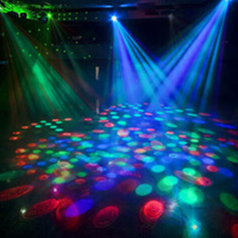 H086 Fashion LED Lamp E27 Moving Head Stage Lighting Laser Crystal Auto Rotating RGB Par DJ Controller disco ball party light(China (Mainland))