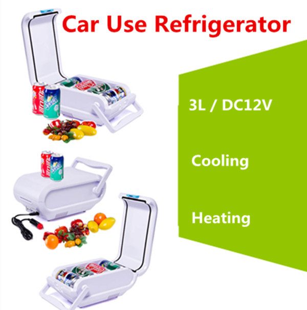 3L Mini Refrigerator DC12V Heating & Cold Car Use Refrigerator Energy-saving Car Portable Refrigerator(China (Mainland))