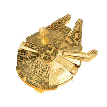 Buy Chinese Metal Earth Star Wars 3D Metal Model Etching Puzzle 6 Inch 2 Sheets MILLENNIUM FALCON GOLD Creative Gift for $5.99 in AliExpress store