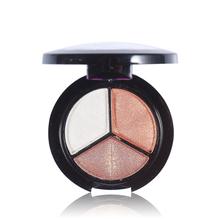 3 Colors Eyeshadow Makeup Palette Good Quality Fine Powder Smoky eyes Metal Naked Nude Eye Shadow Cosmetic brush & mirror(China (Mainland))
