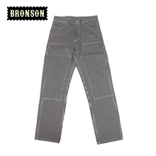 2016 bronson 12oz yarn dyed mens cotton stripe casual pants free shipping