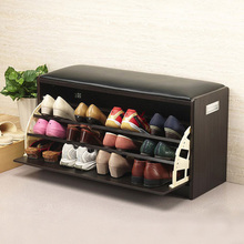 Modern brief wood tip shoe storage stool change a shoe stool shoe shoes stool(China (Mainland))