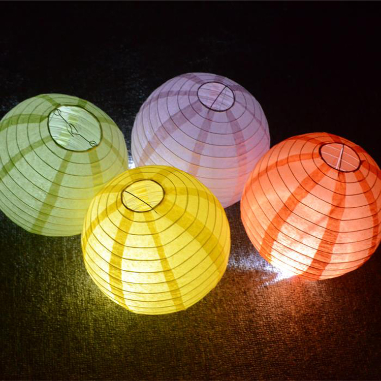 20pcs/lot 8''(20cm) Chinese Round Led Lights Paper Lantern for Wedding Mariage Party Decoration 20 Colors for Choose(China (Mainland))