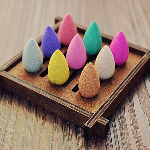 50Pcs Household Natural Backflow Incense Fragrant Reflux Aromatherapy Cones