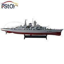 "Buy Rc Military Model Series Battleship 1/360 RC 28"" Warship Cruiser Simulation Battleship Bismarck High-speed Remote Control Toy for $153.89 in AliExpress store"