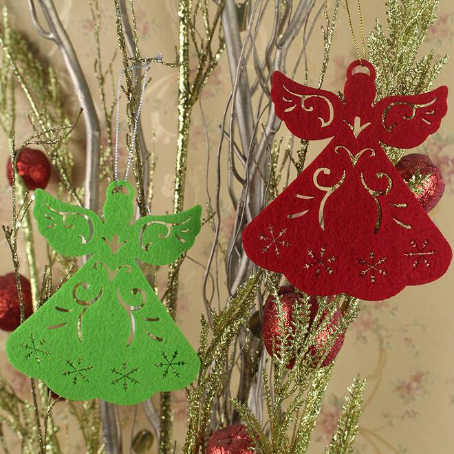 Christmas Ornament Angels From Office Supplies: Christmas Decorating Supplies 12.5x11cm Angel Shape