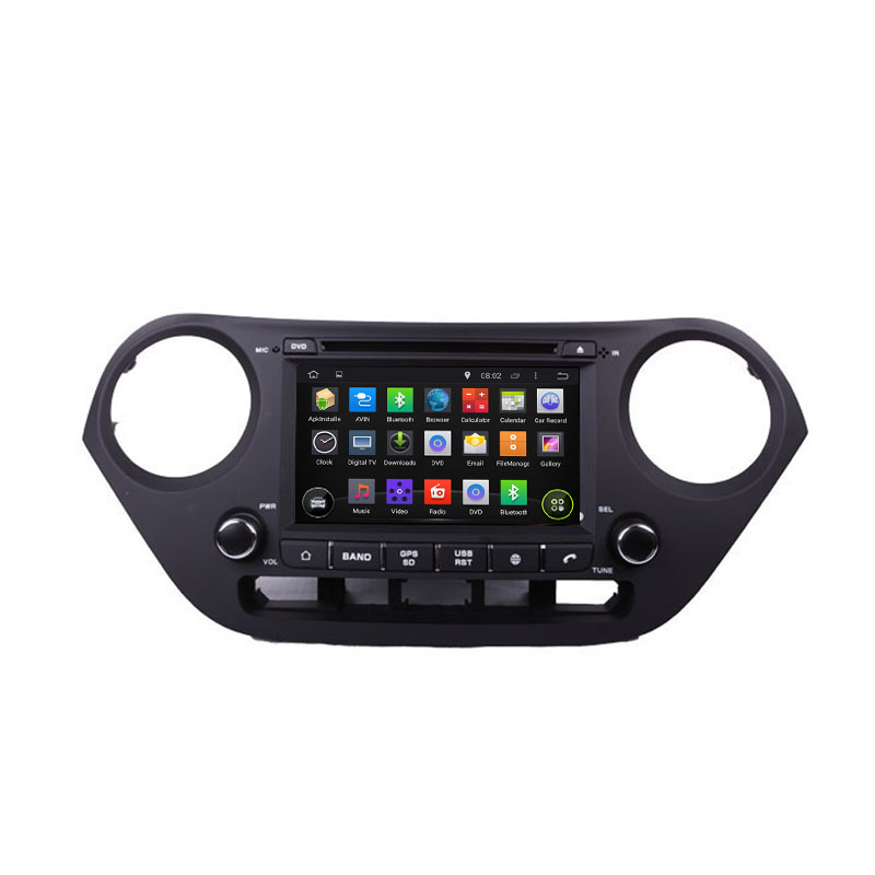 ROM 16 1024*600 Quad Core Android 5.1.1 Fit Hyundai i10 2013 2014 2015 Car DVD Player Navigation GPS Radio(China (Mainland))