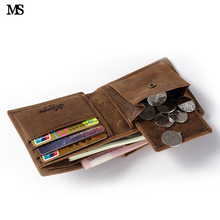 Buy MS Random Men Leather Casual Credit Card Case ID Cash Coin Holder Wallet Slim Organizer Wallet Trifold Wallet Brown Q300 for $22.42 in AliExpress store