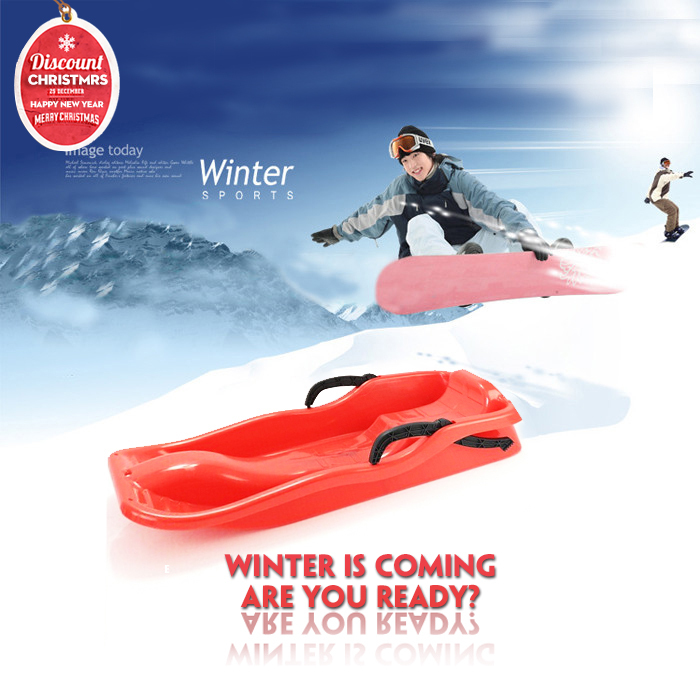 Quality snow grass ski sled for kids children adult snowboard sledge skiing and snowboarding winter outdoor sports hot sale(China (Mainland))