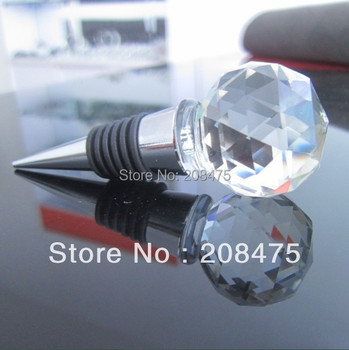 K9 Crystal Bottle Stoppers,Crystal Faceted Ball Wine Bottle Stoppers for Wedding Gifts or Wedding Souvenirs