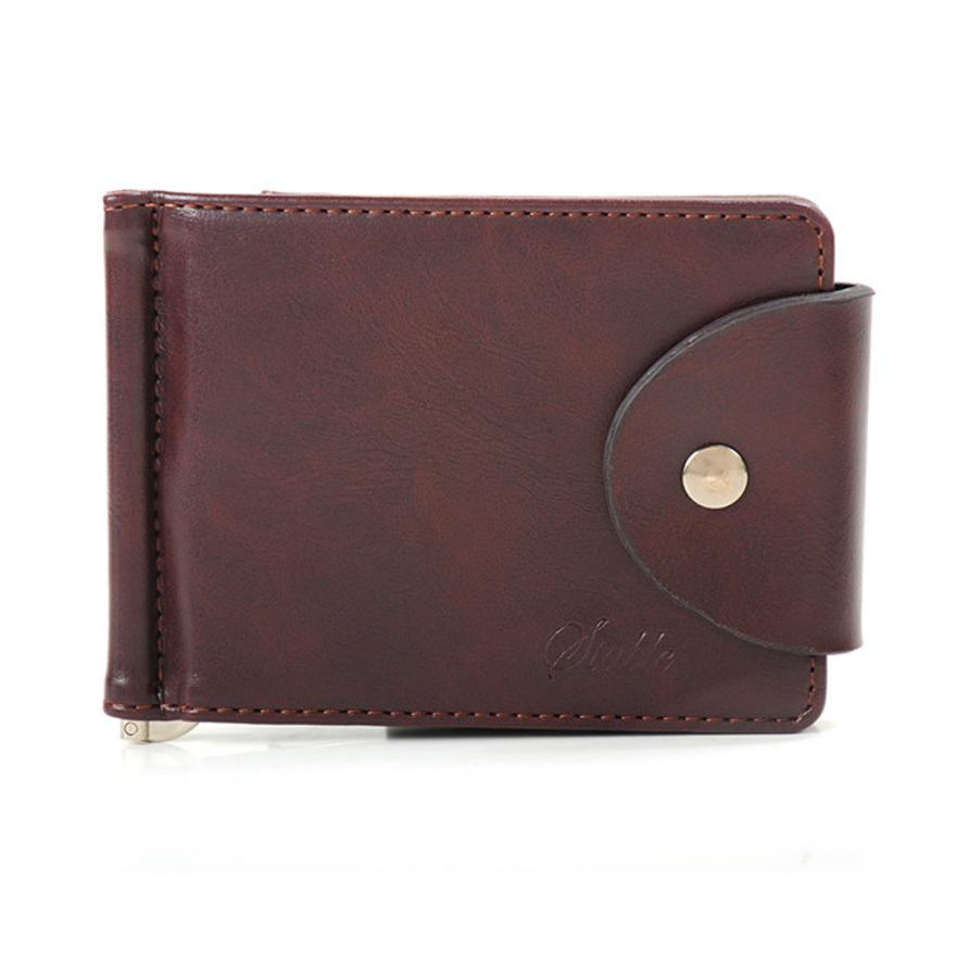 Luxury Men's Top Wallets Ultra-thin Leather Money Clip Slim Wallets ID Credit Purse #2415(China (Mainland))