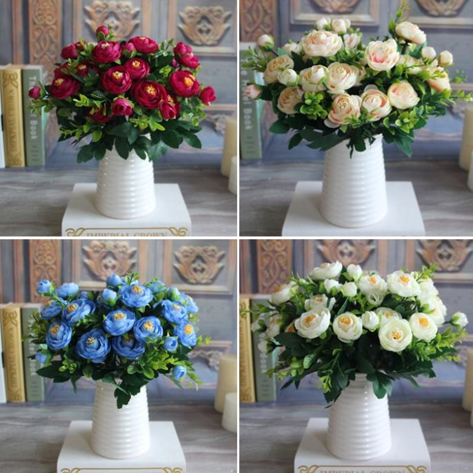 New Spring Artificial Fake Peony Flower Arrangement Home Hotel Room Decoration free shipping(China (Mainland))