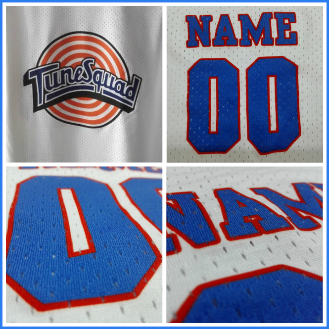 Customized Space Jam Jersey White Basketball Jersey, New Tune Squad Jersey LOONEY TOONES