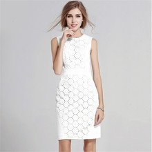 new fashion summer style lace white plus size women casual bodycon office dress vestidos femininos party 2016 dresses(China (Mainland))