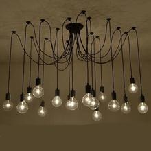 Retro Spider pendant Lamp Classic Decorative Loft Lights American Country Edison Pendant Light E27/E26 120V-240V New Arriving(China (Mainland))