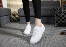 2016 New  Women's fashion white Shoes Ladies wihte black Casual gym shoes for woman zapatillas deportivas mujer NY13