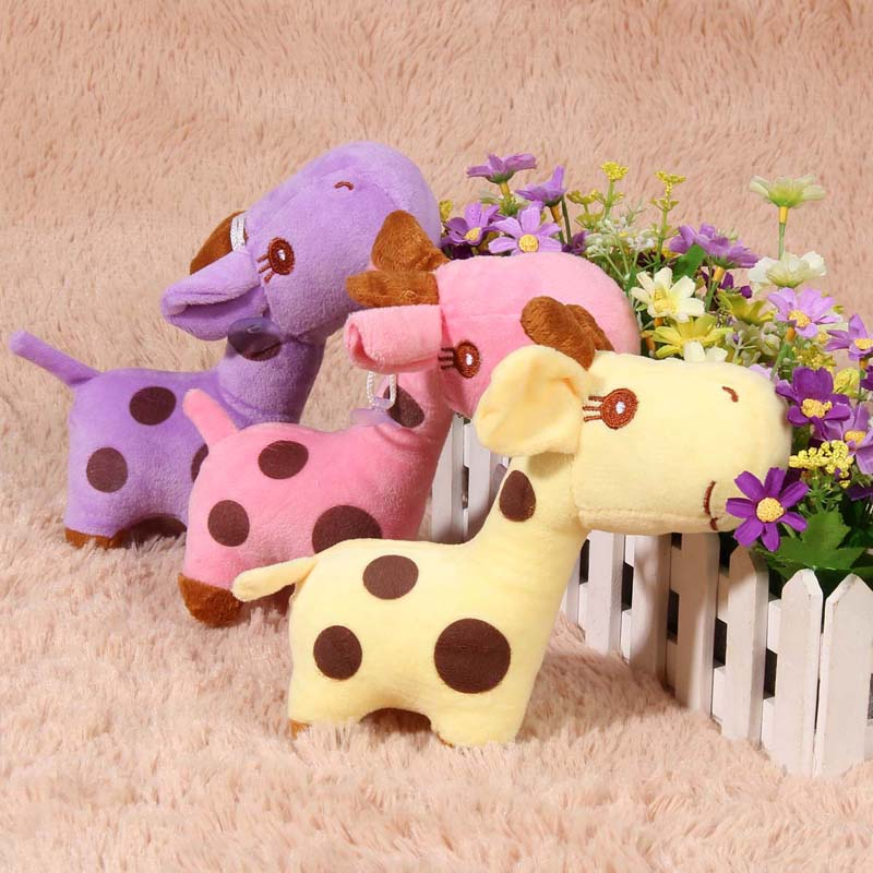 2016 Fashion Cartoon Giraffe Deer Soft Plush Toy Animal Dolls Baby Kids Birthday Children's Toys for Babies Soft Toys(China (Mainland))
