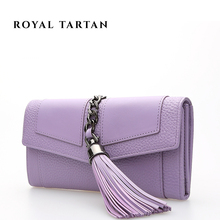 ROYAL TARTAN women leather wallets new 2016 luxury brand clutch bag fashion ladies genuine leather long wallet designer purses