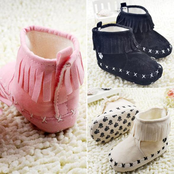 Baby Infant Girl Tassels Boot Soft Bottom Shoes Toddler Antislip Snow Boots
