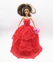 2015 nuevos hechos a mano hermosos del partido ropa moda vestido para Noble Barbie Doll a996, envío gratis