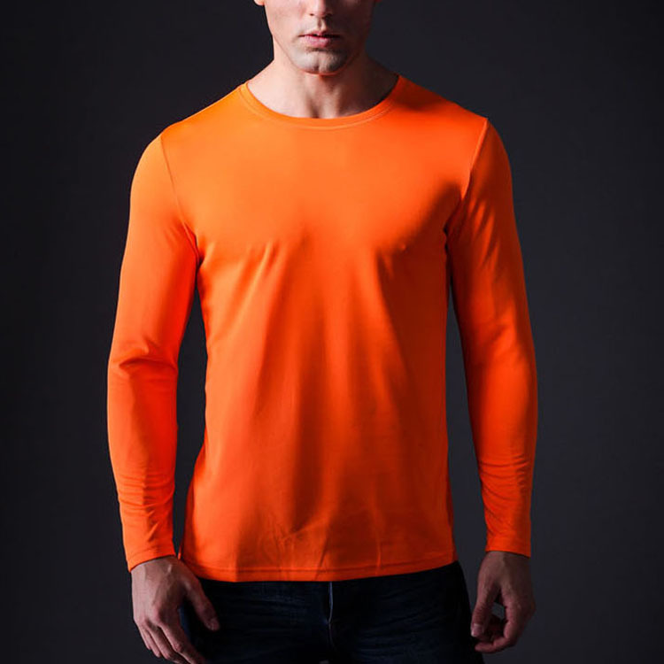 Mens Orange Long Sleeve Shirt | Is Shirt