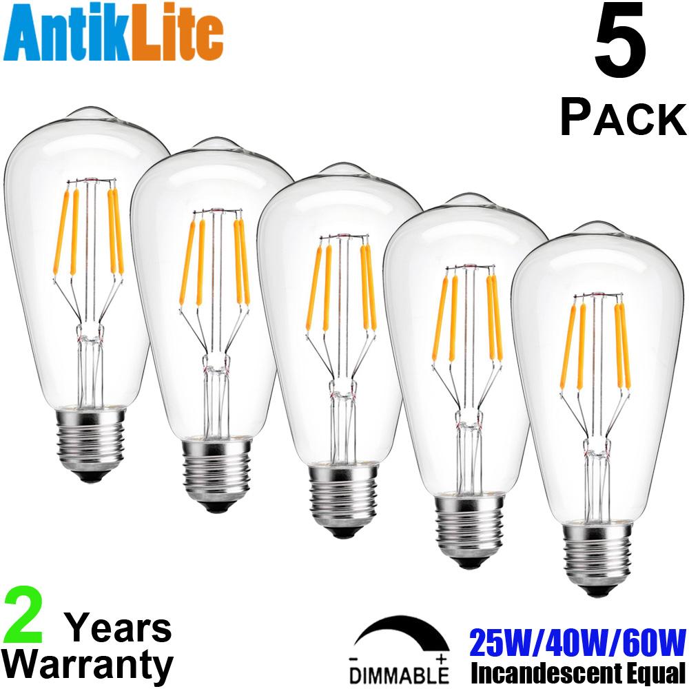 Edison Vintage 110v E26 E27 A19 A60 40w 60w Equivalent: Popular 25 Watt Bulb-Buy Cheap 25 Watt Bulb Lots From