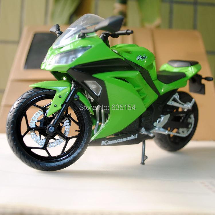 Brand New 1/12 Scale Motorbike Model Toys Kawasaki Ninja Green Diecast Motorcycle Metal Model Toy For Gift/Kids -Free Shipping(China (Mainland))
