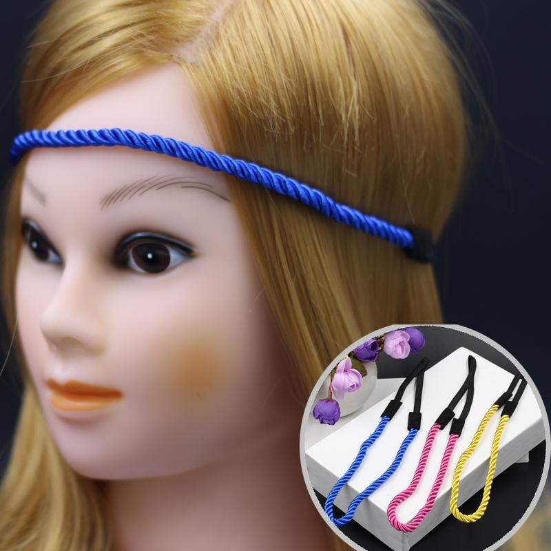 women multicolor rope Braided elastic Headband vintage simple style Headbands Hairbands Headwear Head Band Head Chain(China (Mainland))