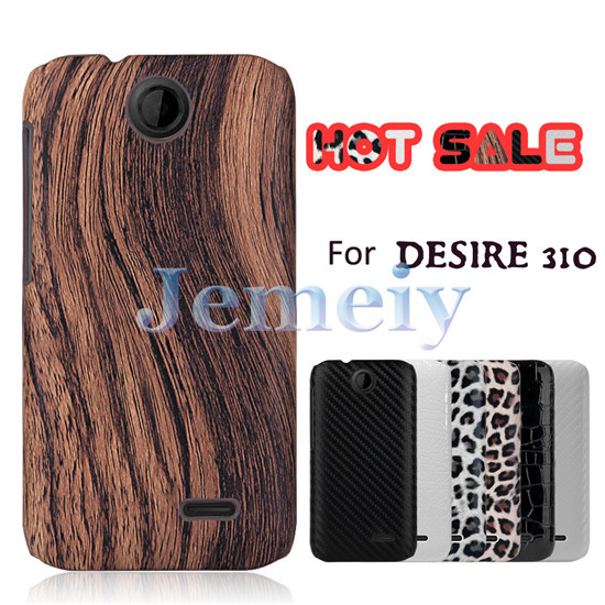 Luxury Design Case For HTC Desire 310 Dual Sim, Leopard Croco Wood Textured Print Ultra Thin Slim Hard PC Back Shell Case Cover(China (Mainland))