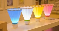 Free Shipping 1pcs/lot The LED rechargeable table lamp/strange new creative USB badminton charging small night lights