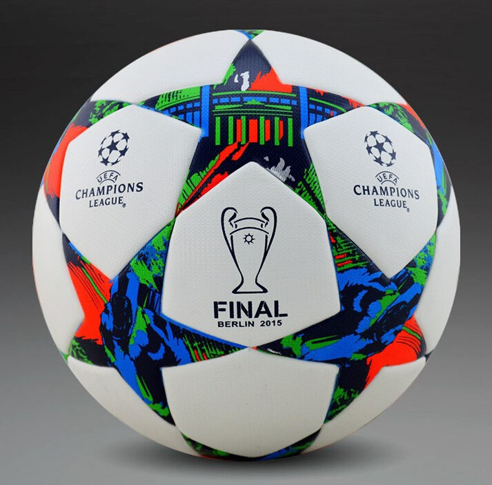 A+++ 2015 final berlin Champions League Soccer Ball Particles football ball top high quality seamless TPU Size 5 Free Shipping(China (Mainland))