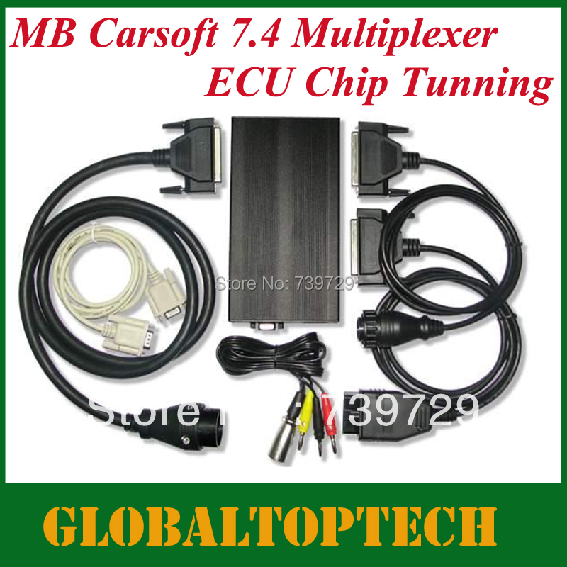 Free Shipping!!2015 Wholesale Mercedes Benz Carsoft 7.4 benz diagnostic multiplexer MB Carsoft 7.4 Multiplexer(China (Mainland))