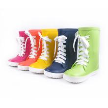 Botas de goma para los niños zapatos para la lluvia para niñas botas de lluvia niños chanclos de goma PVC goma más color 106(China (Mainland))