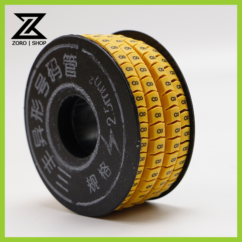 300Pcs/Roll 1.5mm Square Cable Wire Markers Yellow(China (Mainland))
