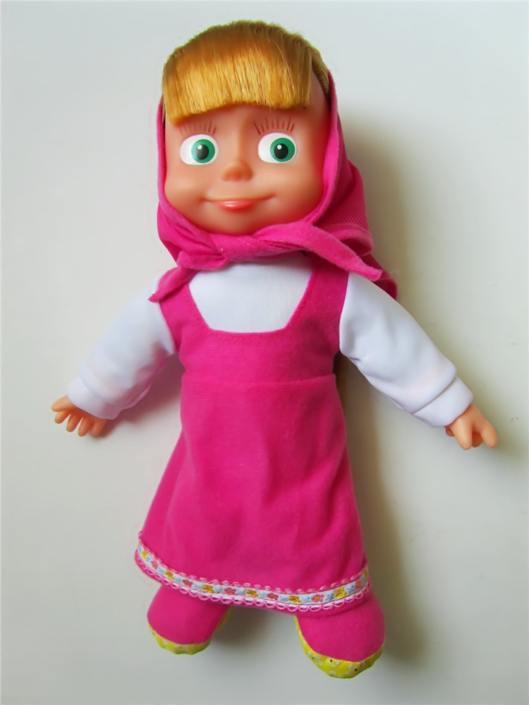 Masha And Bear Figure Toys Musical Russian Doll New Baby Girl Gift Masha orso Bambola Interactive Toys Boneca Baby AliveKid Gift(China (Mainland))