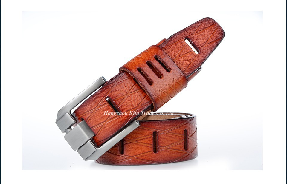 Designer men 100% good quality cowskin qenuine luxury leather belts for men,strap metal pin buckle,hip jeans belt,drop shipping