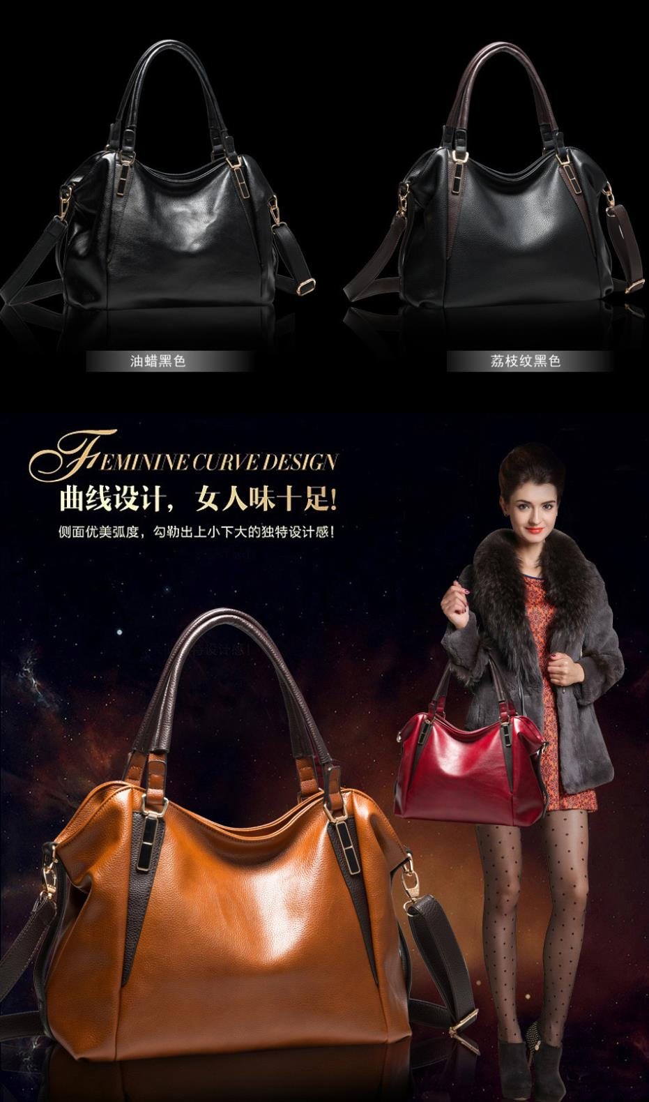 04f884b1f08b Women Luxury Brand Bags European Genuine Leather Bags For Women ...