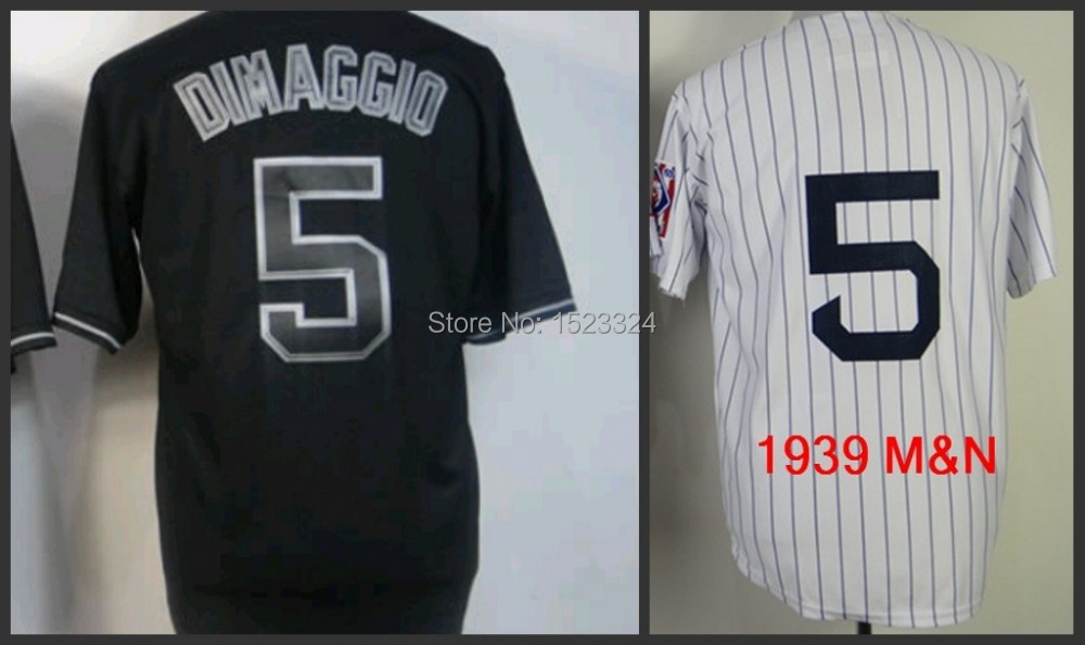 Mens Authentic new york #5 joe dimaggio Vintage Throwback baseball jerseys white/black stitched size S-3XL for sale<br><br>Aliexpress