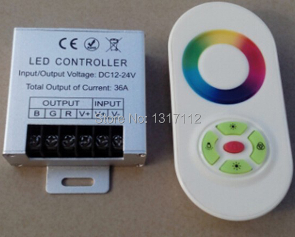 Touch RGB controller DC12V 24v 360W Wireless LED Controller RF Touch Panel LED Dimmer RGB Remote Controller(China (Mainland))