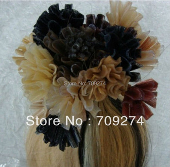 10A keratin u tip pre-bonded remy human virgin Brazilian hair extension black brown blond color u tip hair